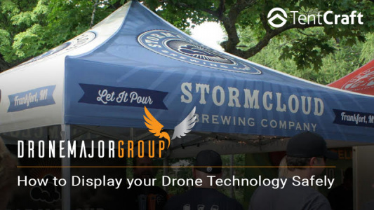 tentcraft drone cage display drone popup drone display