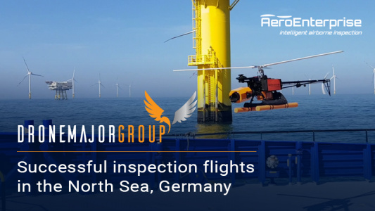 Successful inspection flights in the North Sea, Germany