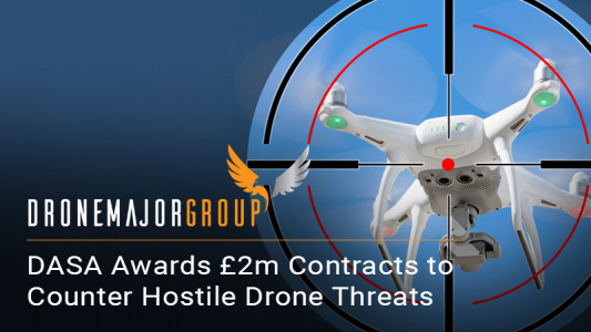 DASA awards £2m contracts to counter hostile drone threats Funds will develop new technology to tackle rising security risks posed by Unmanned Air Systems