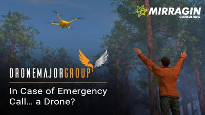 landscape photo of drone use in emergency services sectors